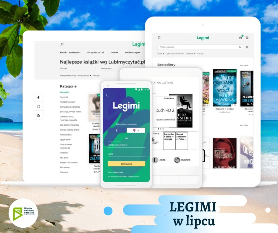 Legimi – kody na lipiec