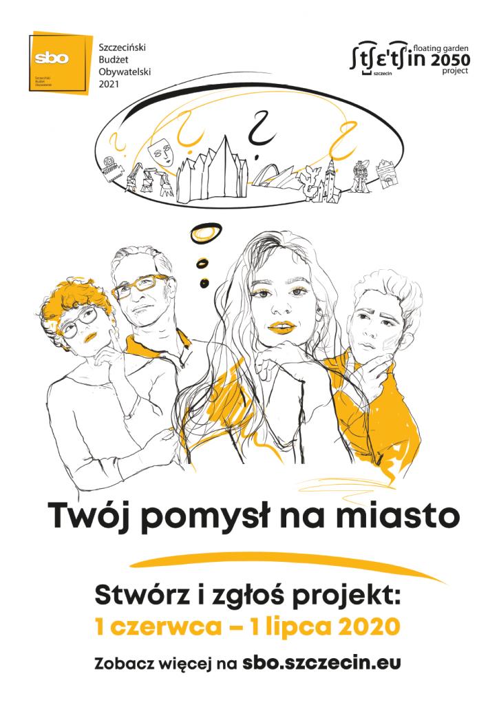 plakat promujący Szczeciński Budżet Obywatelski 2021