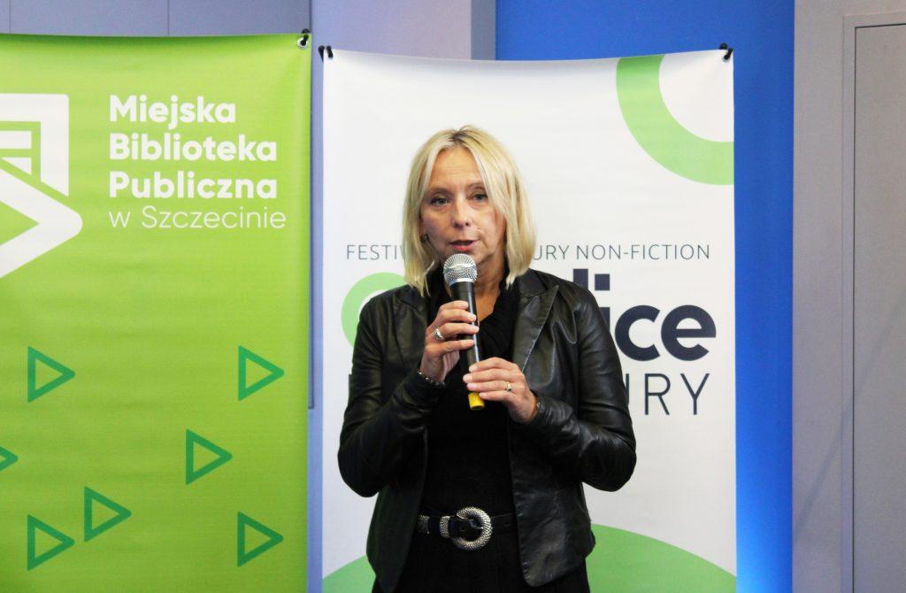 Agata Stankiewicz, zastępczyni dyrektora Miejskiej Biblioteki Publicznej w Szczecinie