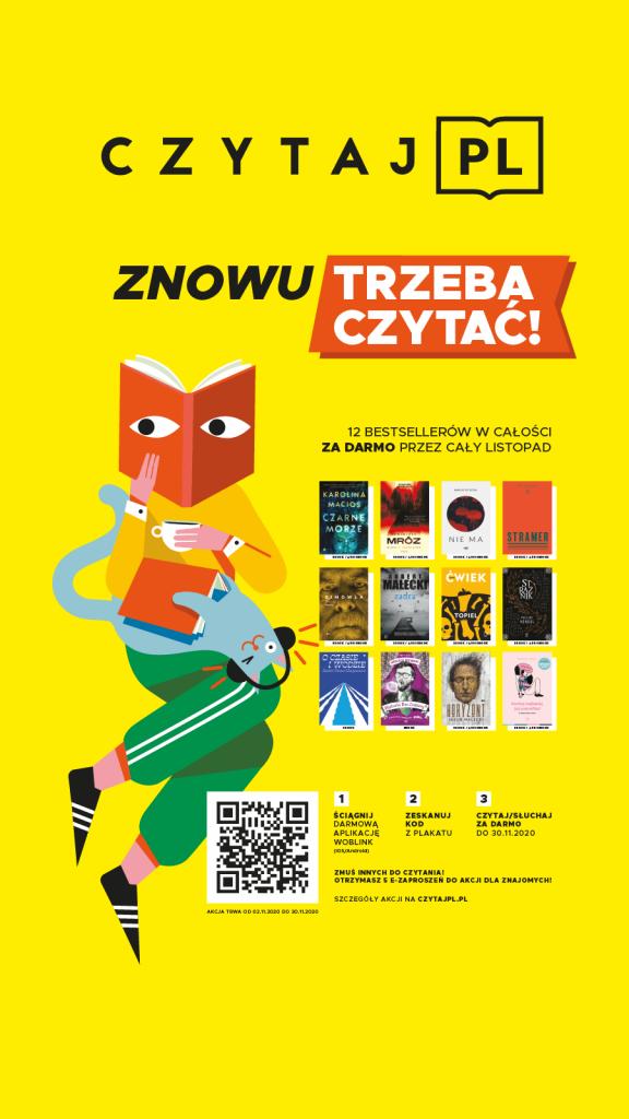Plakat informujący o akcji Czytaj PL