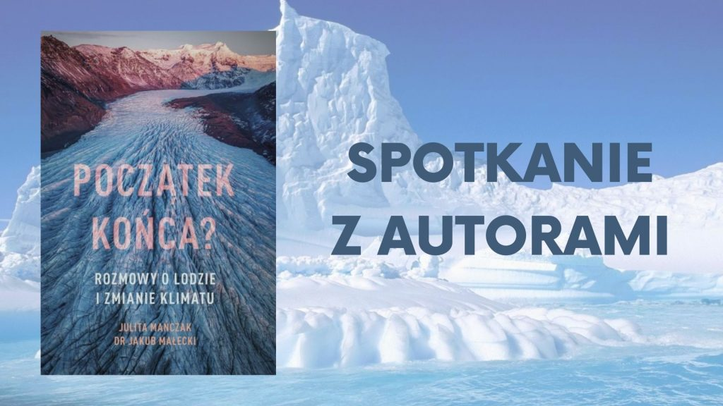 okładka książki na tle lodowca