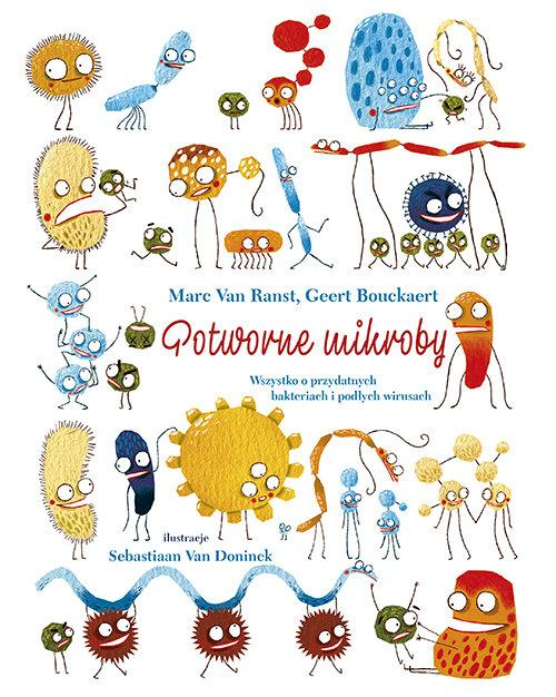 """okładka książki """"Potworne mikroby"""""""