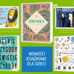kolaż okładek książkowych z nowościami dla dzieci