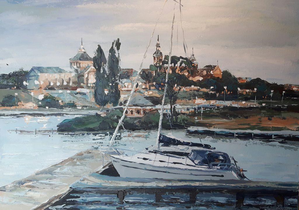 obraz przedstawiający wybrzeże Odry