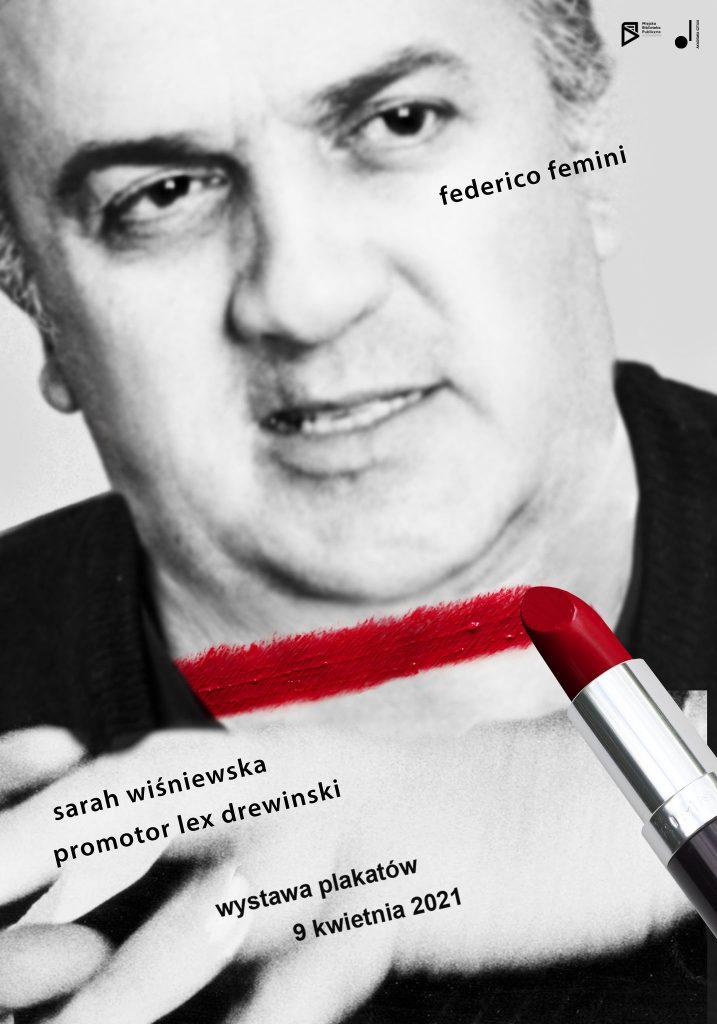 Plakat promujący wystawę Federico feminie