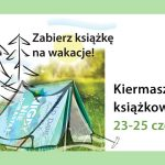 grafika z namiotem i książką