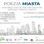 grafika promująca projekt Poezja miasta