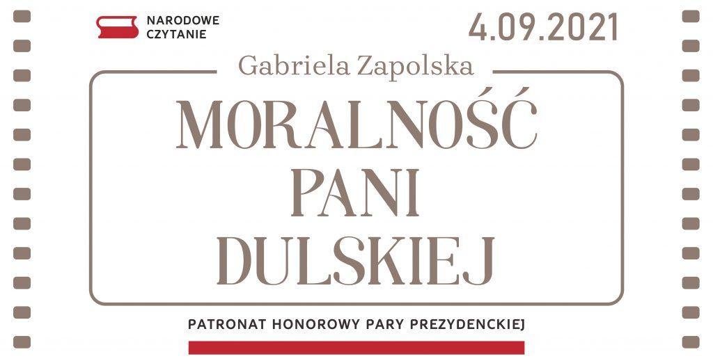 Moralność pani Dulskiej. Narodowe Czytanie 2021