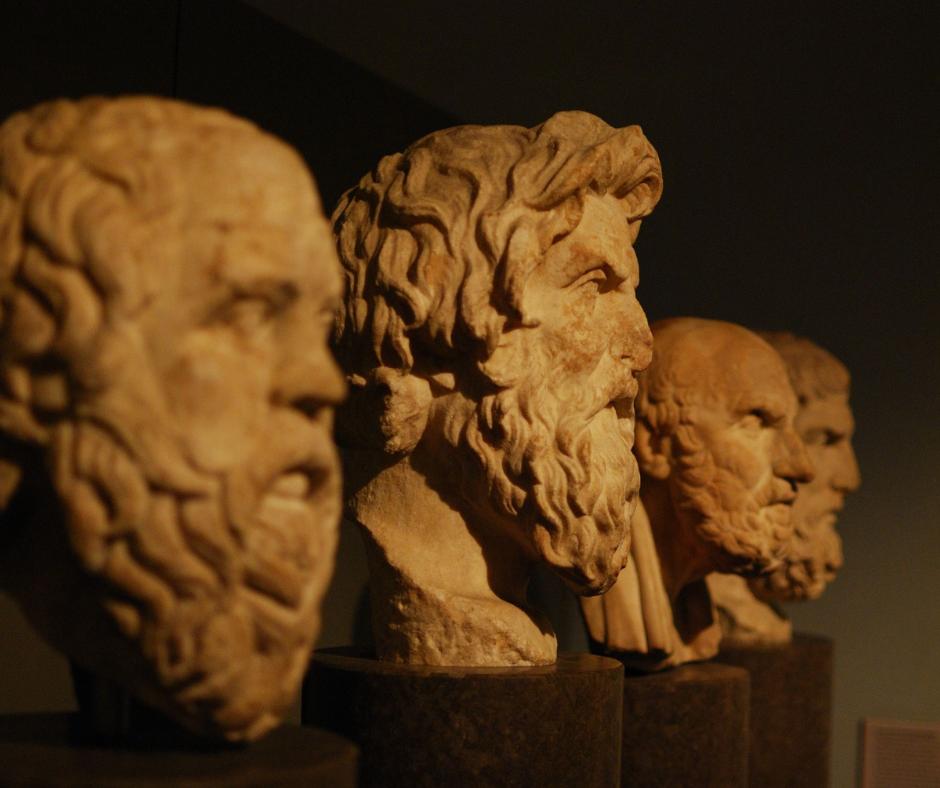 kamienne popiersia filozofów